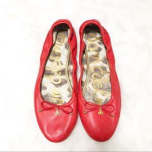 Sam Edelman Red Leather Felicia Flats